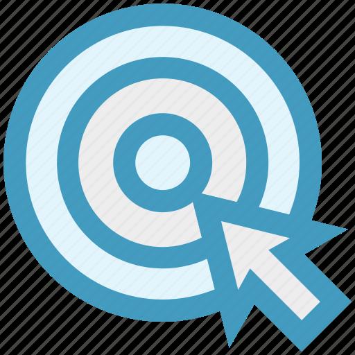 bulls eye, clock, goal, pointer, seo, website icon