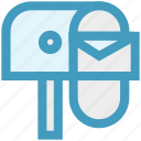box, email, envelope, letter, post, postbox, seo icon