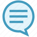chat, comment, message, online, seo, sms, talk icon