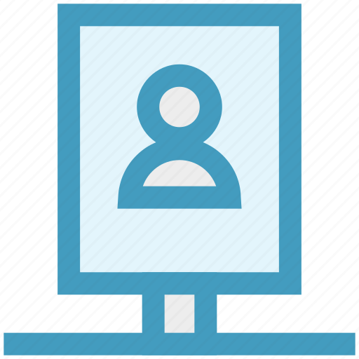 advertising, board, person, seo, user icon