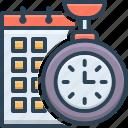 efficiency, management, organize, planning, time, time efficiency, time planning icon