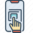 finger, hand, technology, touchpad, touchscreen icon