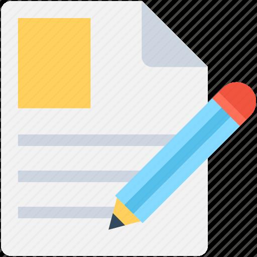 pencil, resume writing, script writing, writing, writing article icon