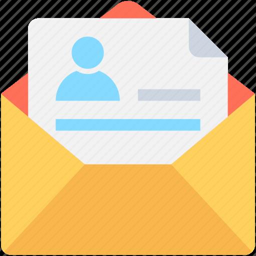 cv, document, letter, mail, resume icon