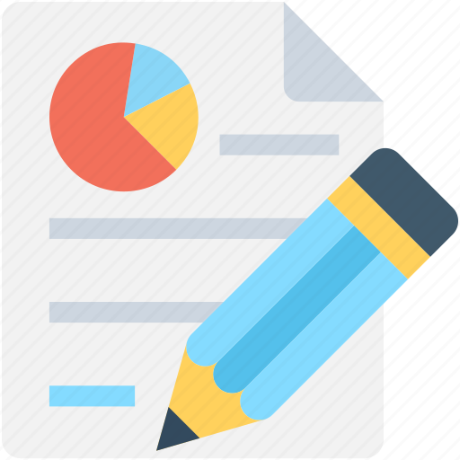 graph report, pie chart, report edit, seo report, statistics icon