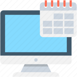 calendar, date, monitor, time, yearbook icon