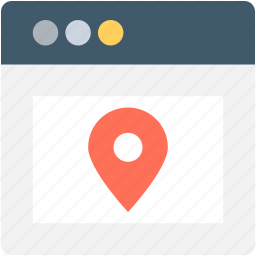 location finder, map pin, online map, online navigation, web page icon