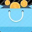 coins bag, currency, currency bag, money bag, shopper bag