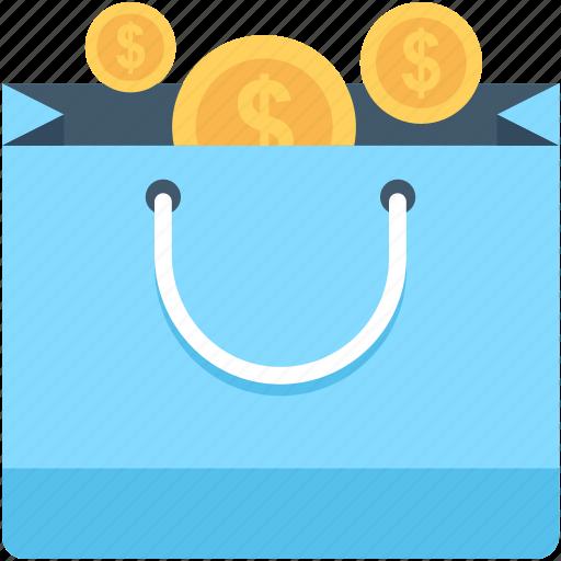 coins bag, currency, currency bag, money bag, shopper bag icon