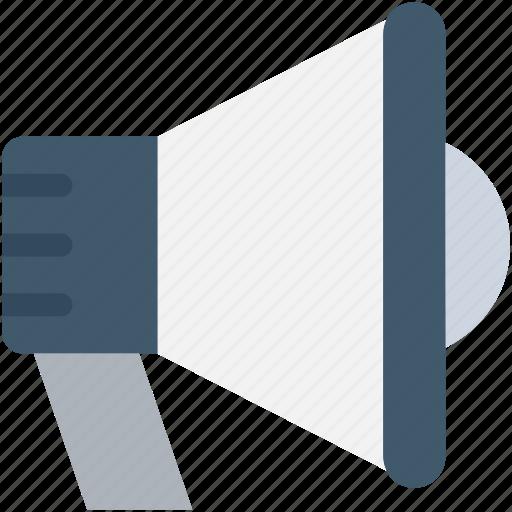 advert, announcement, bullhorn, loud hailer, megaphone icon