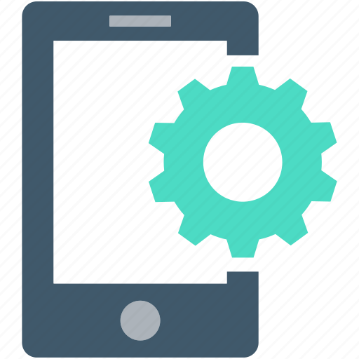 app development, cogwheel, gear, mobile development, mobile ui icon