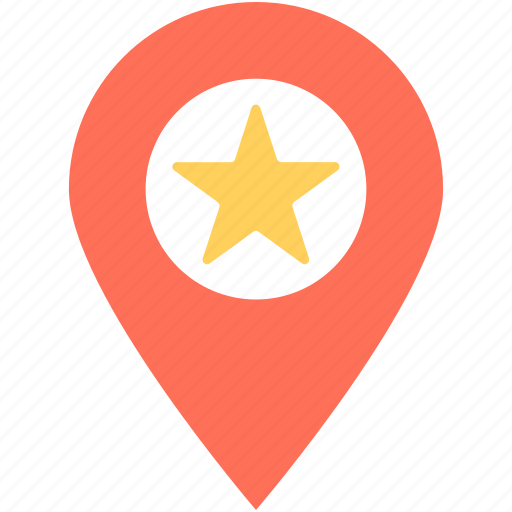 Favorite location, gps, location pin, map, map pin icon - Download on Iconfinder