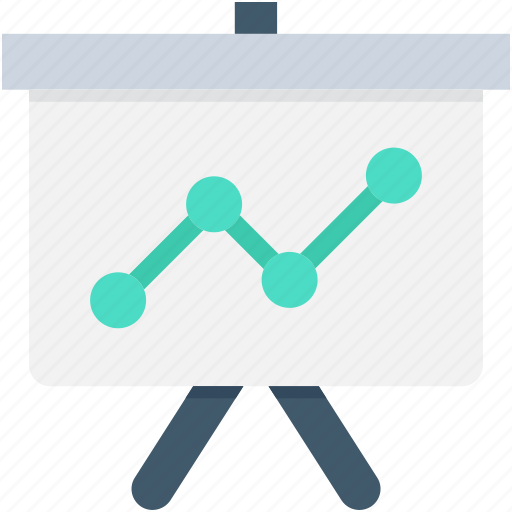 analysis, chalkboard, graph presentation, growth graph, presentation icon