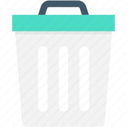 delete, dustbin, garbage can, garbage pail, trash bin icon