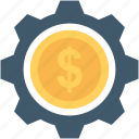 business, cog, dollar, economy, gear icon