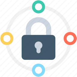 locked, network security, padlock, private network, secure network icon