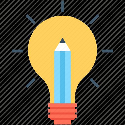 bulb, creative, creativity, idea, strategy icon