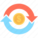 currency, currency exchange, dollar, dollar exchange, money exchange icon