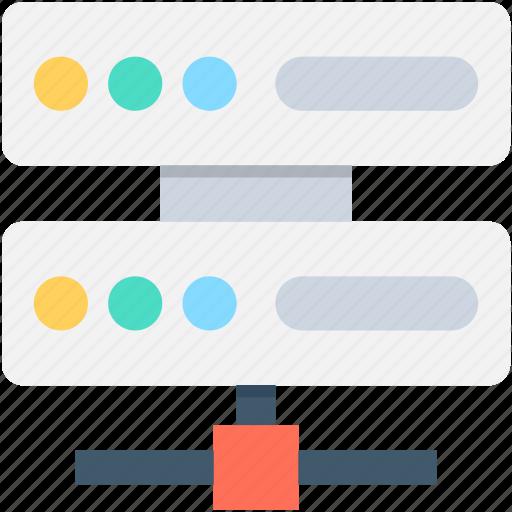 database, network server, server, server storage, share server icon