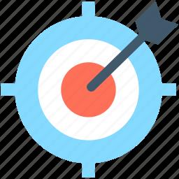 bullseye, bullseye arrow, dartboard, focus, target icon