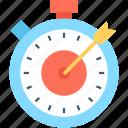 aim, bullseye, optimization, target, timer icon