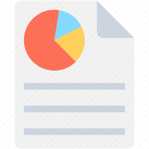 business report, graph report, pie chart, seo graph, seo report icon