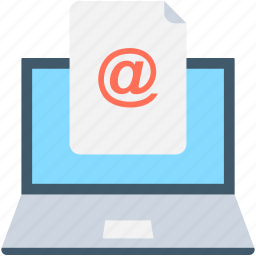 communication, email, email marketing, laptop, mail icon