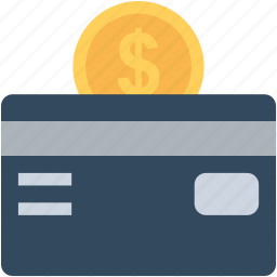 banking, coin, credit card, dollar coin, plastic money icon