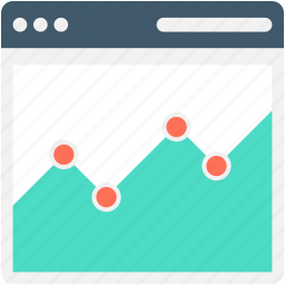 line graph, online analytics, online graph, seo graph, webpage icon
