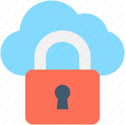 cloud computing, cloud protection, icloud, lock, padlock icon