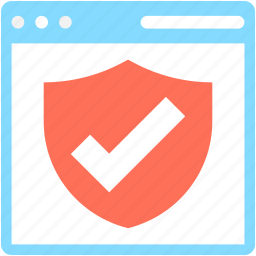 approved, protection sheild, sheild, web, web protection icon