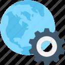browser, cog, globe, internet, setting