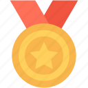 award, award medal, eps, medal, star medal icon