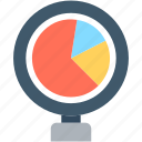 graph report, pie chart, pie graph, seo graph, statistics icon