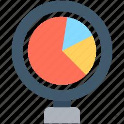 graph report, pie chart, pie graph, seo graph, statistics icon