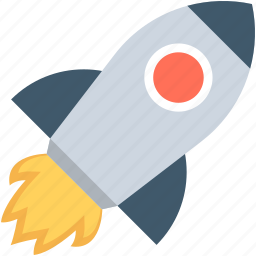 launch, missile, rocket, seo startup, startup icon