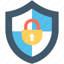antivirus, firewall, lock, padlock, protection shield icon