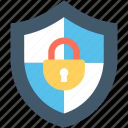 antivirus, firewall, lock, padlock, protection shield icon
