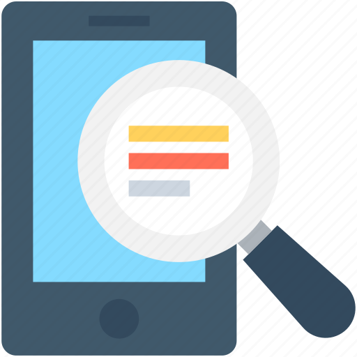 find, magnifying, mobile scanning, mobile search, search icon