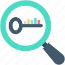 find keywords, keywords, magnifier, search keywords, seo