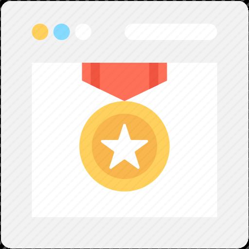 medal, ranking, star, star medal, web ranking icon