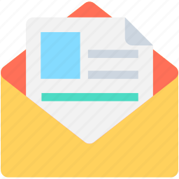 cv, document, letter, mail, resume icon