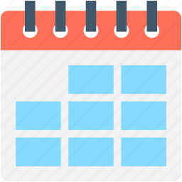 calendar, calendar date, date, day, yearbook icon