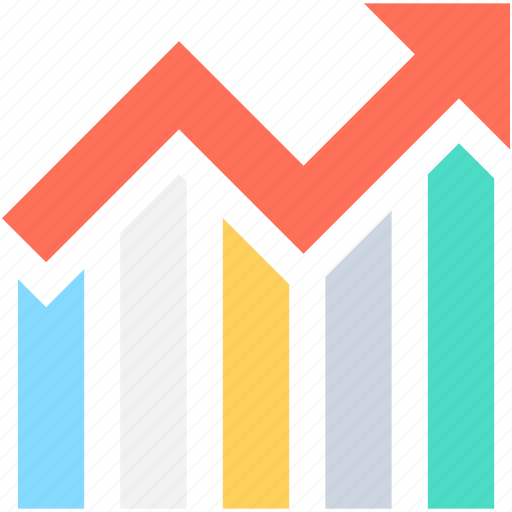 bar graph, business graph, business growth, growth chart, seo graph icon