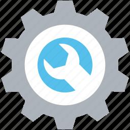cog, cogwheel, optimization, settings, wrench icon