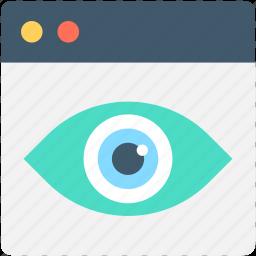 eye, visualization, web page, web visibility, website icon