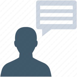 chat balloon, communication, speaking, talking, user icon