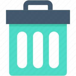delete, dustbin, garbage can, garbage pail, trash bin icon