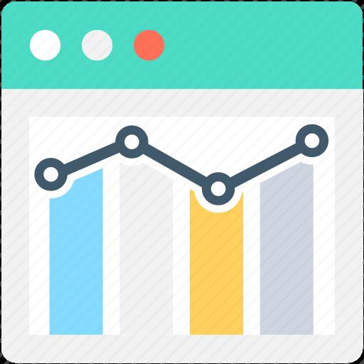 line graph, online analytics, online graph, seo graph, webpage icon