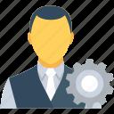 avatar, cog, configure, control, manager icon